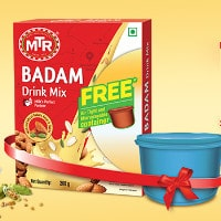 MTR Foods: FREE Microwaveable Container on Badam Drink Mix Orders