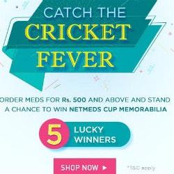 NetMeds: WIN Netmeds Cup Memorabilia on Medicines above ₹ 500+ Site-Wide