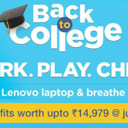 Lenovo India: Get Benefits Worth ₹ 14,979 on Back to College Offers