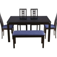Flat 66% OFF on Daiton Rubber Wood Six Seater Dining Set