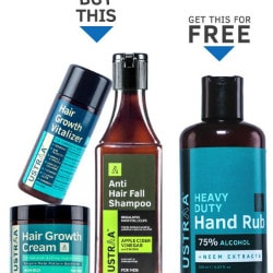 Flat ₹ 1,497 on Hair Growth Kit (With Hand Rub FREE)