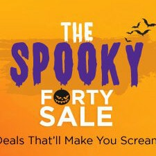 Flat 40% OFF on Spooky Forty Sale Orders