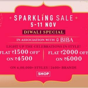 [DIWALI] Flat ₹ 2,000 OFF on Sparkling Sale above ₹ 6,000+