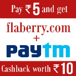 Flaberry: ₹ 10 Cashback off ALL Orders Site-Wide for PayTM Customers