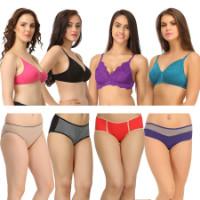 Get 80% off 8 Pc Bra & Panty Set Orders