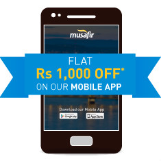 Musafir: Flat ₹ 400 OFF on APP Flight Bookings Site-Wide
