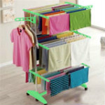 Get 66% off Kawachi Power Dryer Easy Mild Steel Cloth Drying Stand (with 6 Wheels) Orders