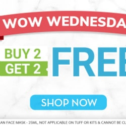 From ₹ 199 each on 2 WOW Everyday Medium Pizza's