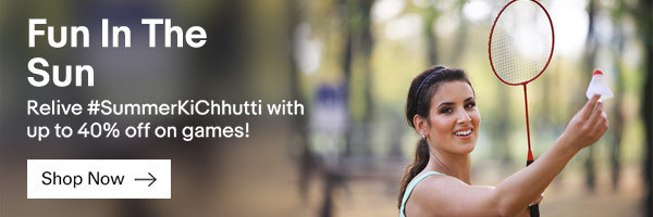 Ebay India: Upto 50% OFF on Fitness, Sports & Games Orders