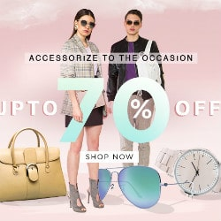 Jabong: Upto 70% OFF on Accessories Fest Orders