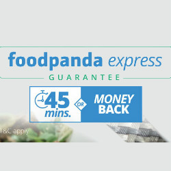 FoodPanda: 45 Mins or Money Back on Express Orders Site-Wide for MOBILE Customers