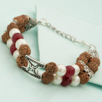 50% OFF on Swastika Engraved Rudraksha Beaded Bracelet Orders