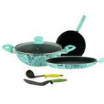 50% OFF on Wonderchef Non-stick Oscar Blu Doppio Cookware Set (4 Pcs) Orders