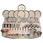 63% OFF on Classic Essential 124 Pieces Stainless Steel Dinner Set Orders