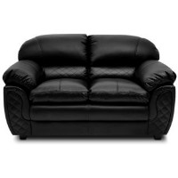 Upto 50% OFF on Mirage Two Seater Sofa (Black)