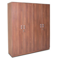Flat 35% OFF on Wilson Four Door Wardrobe Regato Walnut