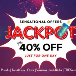 Nykaa: Upto 40% OFF on Diwali Jackpot Sale !
