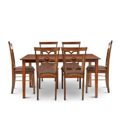 Upto 50% OFF on Eva Six Seater Dining Set (Wenge / Brown)