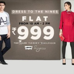 Jabong: Flat ₹ 999 on 'Dress to the Nines' Between 10 AM -> 2 PM
