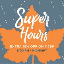 Myntra: Flat 18% OFF on Super Hours Orders above ₹ 1,799