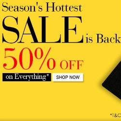 Flat 50% OFF on Seasons Hottest SALE !