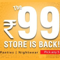 Clovia: Flat ₹ 99 Each on Any 5 Bra's | Panties | Nightwear Orders