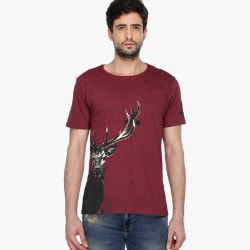 Shoppers Stop: Upto 50% OFF on Men's T-Shirts Orders