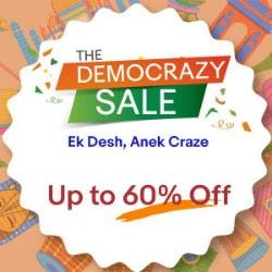 Ebay India: Upto 60% OFF on The Democrazy Sale !