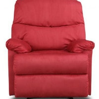Flat 67% OFF on Daniel Single Seater Fabric Recliner (Red)