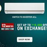 Upto 40% OFF on Inverter AC's Exchanges