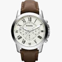 Shoppers Stop: Flat ₹ 6,995 on FOSSIL Mens Chronograph Leather Watch
