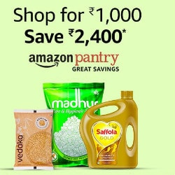Save ₹ 2,400 on Amazon Pantry Orders above ₹ 1,000 !